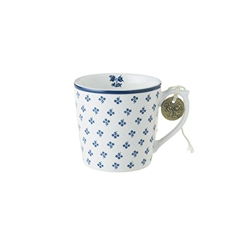 Laura Ashley - Henkelbecher, Henkeltasse, Tasse - Blueprint Petit Fleur - 10,6 x 8 cm (Klein)