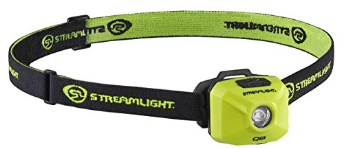 Streamlight 61430 QB Compact 200-Lumen Rechargeable Spot Beam Headlamp with Hat Clip, Head-Strap and USB Cord, Yellow