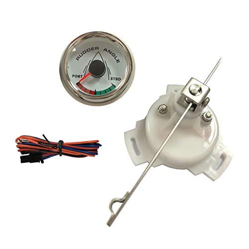Almencla Ruderlageanzeiger mit Sensor, Universal, 52mm, 9-32V, 0-190Ω für Boot