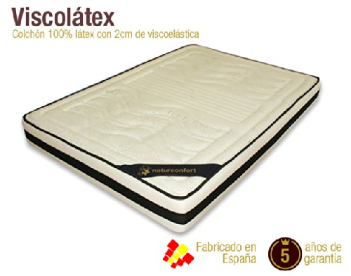 Naturconfort Colchón Viscolátex. Disponible EN Todas Las Medidas (180 x 200 cm)