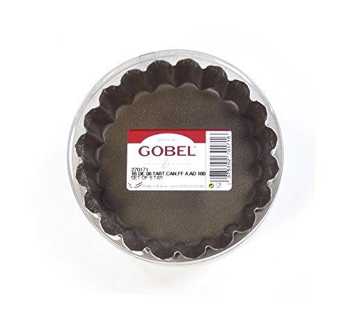 Gobel 270171 Boîte de 6 Tartelettes Rondes Cannelées Anti-Adhérent fond fixe Ø 10 cm