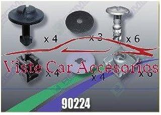 Accesorios para descapotable Plast Tornilleria y Clips para Cubrecarter 90222 Coche y moto Rezaw