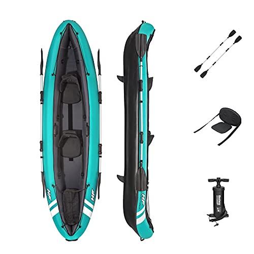 Bestway Kayak de Hydro-Force Hydroforce Ventura para Bote Inflable con Bomba de Mano, Remo y Bolsa de Almacenamiento, Multicolor, Dos plazas