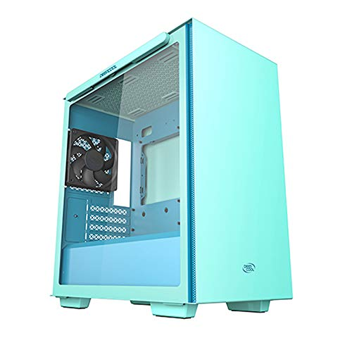 DEEPCOOL MACUBE 110 Green Micro ATX Computer Case - Gaming Cabinet with Magnetic Tempered Glass with up to six 120mm or Four 140mm Cooling Fans Support and radiators up to 280mm on top and in Front