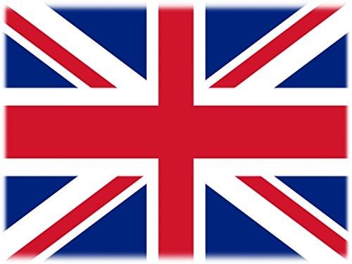 Wuerfel24 Flagge/Fahne Tattoo GROßBRITANNIEN/Vereinigtes Königreich/United Kingdom/UK/Union Jack - 2 Paar (4 Stück) - Nicht permanent - für Gesicht, Wange, Schulter, Arm, Hand