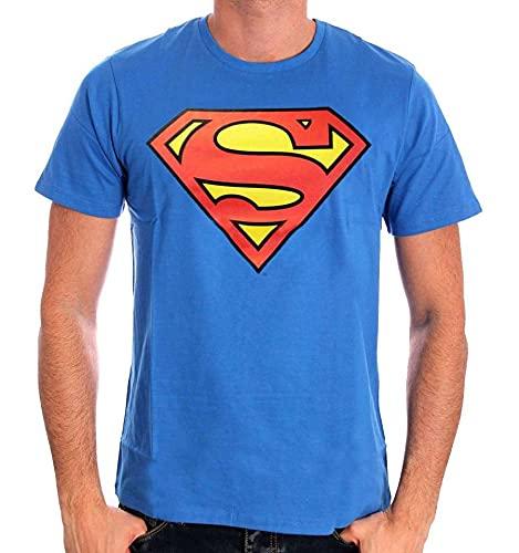 Superman Logo Classique Camiseta, Azul (Cobalt), M para Hombre
