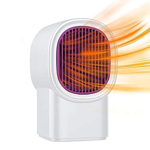 JoinBuy.R Tragbare elektrische Raumheizung, Mini-Desktop-Heizung, Ventilator mit Thermostat für Zuhause und Büro, Keramik, kleine Heizung, sicher und leise