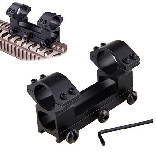 YMH Ymhan2014 Montajes de Alcance táctico 25.4 mm Anillos One Piece Double Scope Mount 11mm Pistola Airsoft Adaptador para la Cola de Picatinny de 20 mm
