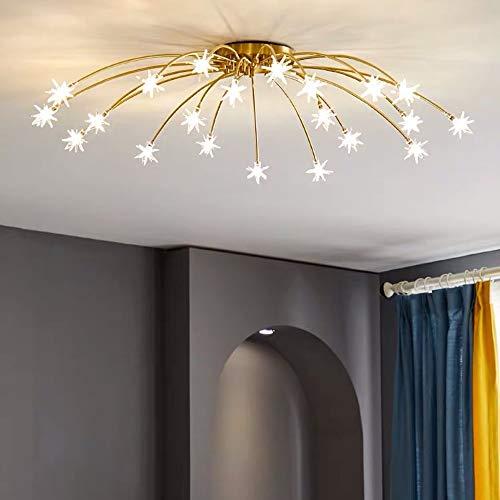 FAGavin Nordic Living Room Lámpara De Techo Dormitorio Restaurante Star Lights Copper Modern Minimalist Lighting Chandelier