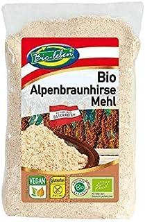 Bio-leben österreichisches Bio Braunhirsemehl glutenfrei 2,4 kg gentechnikfrei, aus roher ungeschälter Braunhirse, Mehl, Hirsemehl extra gereinigt und stechapfelfrei, aus Österreich 6x400g