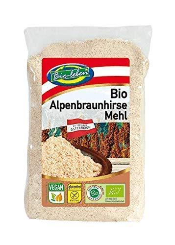 Farine de millet brun autrichien, sans gluten, BIO 2,4kg biologique, cru sans OGM, issu de millet brun complet d'Autriche, nettoyés spécialement et sans datura 6x400g