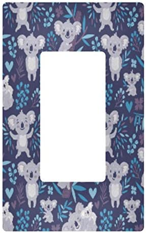 Wellday Koala Bears Decorator Wallplate Toggle Outlet Switch Cover 2 Gang 4 7x4 6 Inch