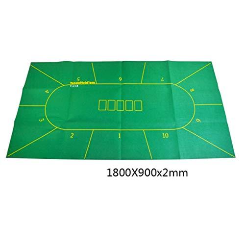 Lpinvin GA - Pokertischaufsätze in Grün, Größe 180x90cm