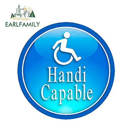 RSZHHL Car sticker 13cm x 13cm Car Styling One Pro Handicapable Car Sticker Handicapped Sign Independence Waterproof Windows Accessories