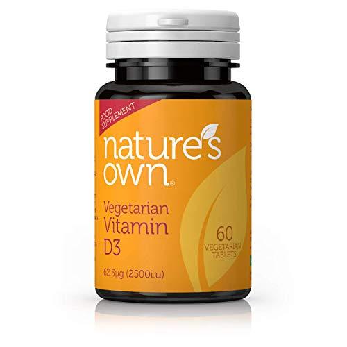 Nature's Own Vegetarian D3 62.5ug - 60 Tablets