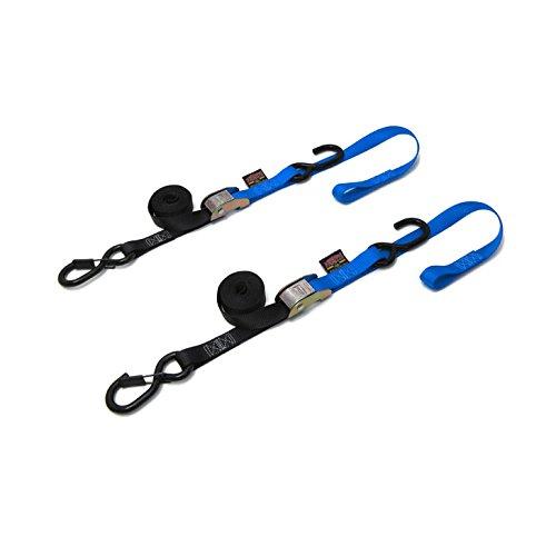 Spanbanden zwart/blauw paar