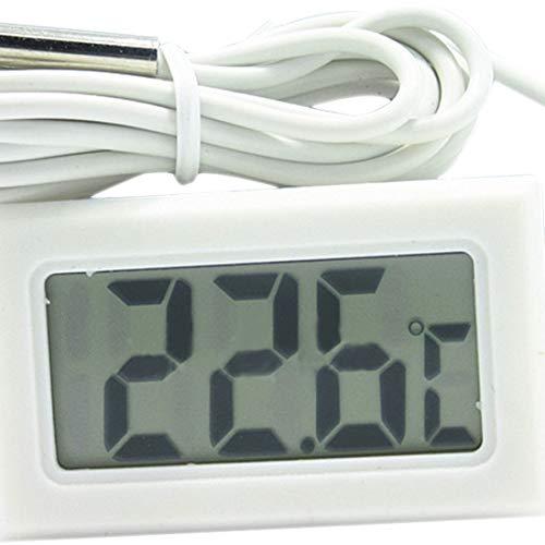 Temperatuurinstrumenten – 1 stuks mini Lcd digitale thermometer koelers aquarium chillers 1 m monster zwart – temperatuurinstrumenten temperatuurinstrumenten freezer thermometer Aquarium Chille wit