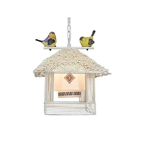 Plafoniera Paralume Lampadari Lampadario A Forma Di Nido D'Uccello Con Testa Di Uccello Lampada Da Soffitto A Forma Di Ristorante Con Uccellino Personalità Uccello Lampadario 30Cm * 30Cm * 32Cm