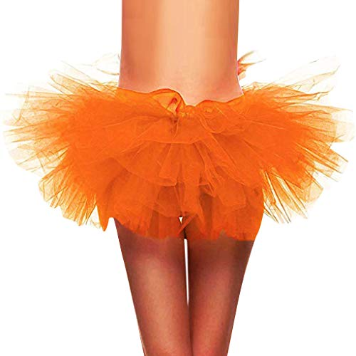 Best Price SSYongxia❤ Women Classic 5 Layered Tulle Tutu Skirt -Adult Ballet Style Tutu for Valent...