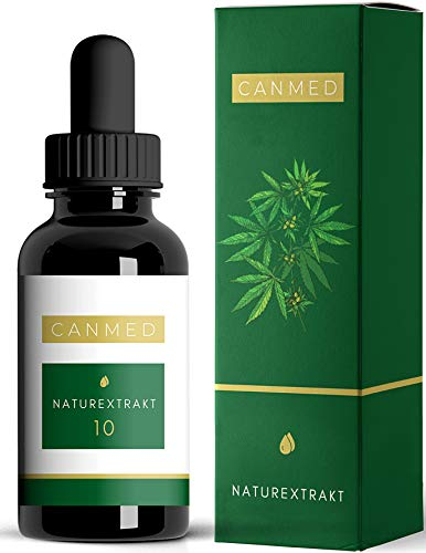 CANMED® NATUREXTRAKT 10 Tropfen | Deutsche Verkehrsfähigkeitsbescheinigung | Natur Öl mit aktiven Terpenen | Registriertes Nahrungsergänzungsmittel | Omega 3-6-9 | 10 ml