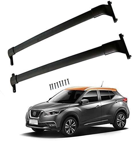 Details about  /Fit for 2018-2021 Nissan Kicks Roof Rack Black Cross Bar Crossbar Aluminum