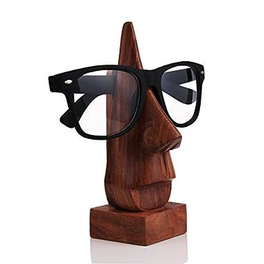 Hand Carved Rosewood Nose-shaped Eyeglass Spectacle/Eyewear Holder