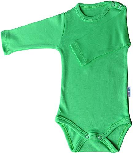 Princess Taufkleid Langarm-Babybodys grün Grösse 56 Body Unisex 100% Baumwolle Druckknöpfe