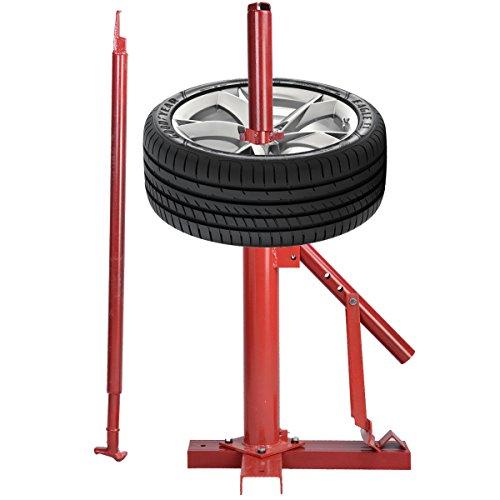 COSTWAY Manuelle Reifenmontiermaschine Reifenmontiergerät Reifenmontagegerät Reifenwechsler Reifenmontagehilfe 8 bis 16 Zoll Auto Nutzfahrzeuge Quad Reifen Montiermaschine inkl. Stange-Hebel