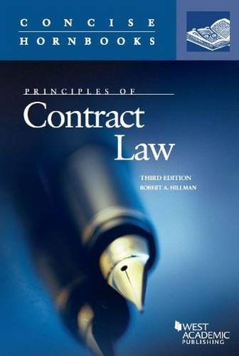 Principles of Contract Law (Concise Hornbook Series)