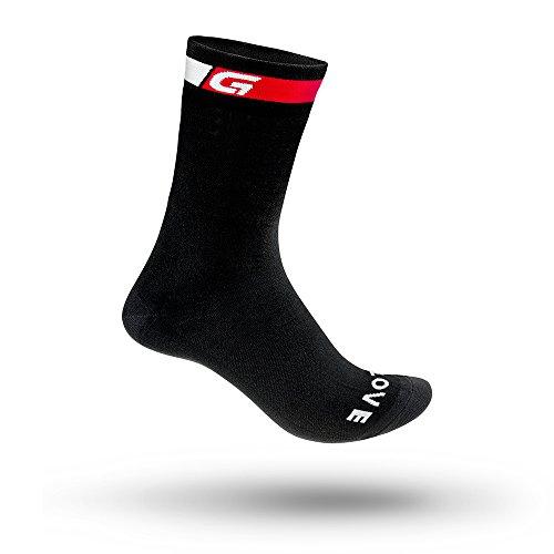 GripGrab Unisex Adult High Cut Sock, Schwarz, M (41-44)