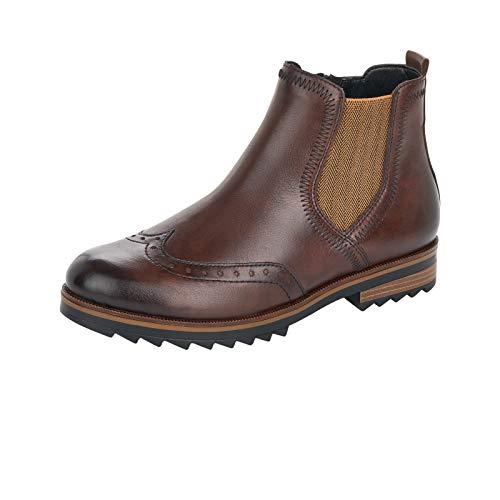 Remonte Damen Stiefeletten, Frauen Chelsea Boots, Freizeit leger Stiefel halbstiefel Bootie Schlupfstiefel,Braun(Mokka),43 EU / 9 UK