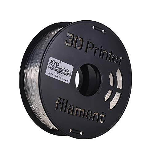 Aibecy 1KG / Spool 1.75mm Flexible Material de impresión de filamento de TPU Suministros Blanco, negro, transparente para impresora 3D Plumas de dibujo