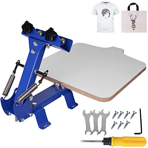 Colilove Silk Screen Printing Machine 1 Color 1 Station Screen Printing Press 21.7x17.7 Inch T-Shirt Screen Printing Machine Kit with Complete Accessories Tools– US Shipping