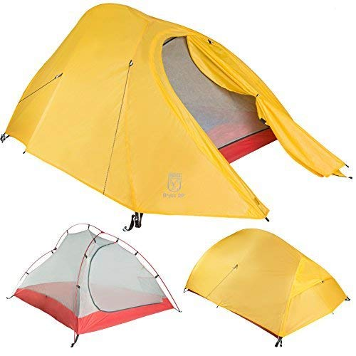 Bryce Ultralight Tent and Footprint – Perfect for Backpacking, Kayaking, Camping and Bikepacking (1P)