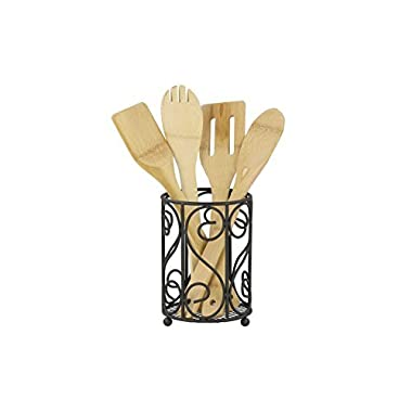 Home Basics Black Cutlery Holder