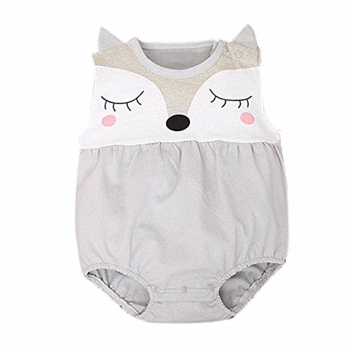Amlaiworld Mono Bebé, Niños Niñas Recién Nacido del bebé de Zorro Mono Trajes 0-24 Mes