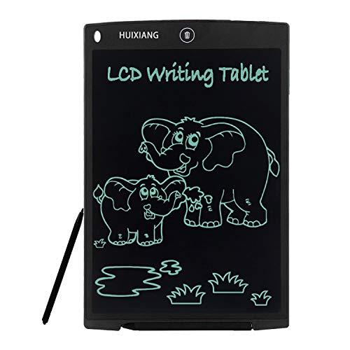 Tavoletta Grafica LCD 12 Pollici HUIXIANG Digitale Scrittura Tavoletta Disegno Lavagna Elettronica LCD Writing Tablet Drawing Board eWriter Pad, Regali di Natale per Bambini Studenti Progettista, Nero