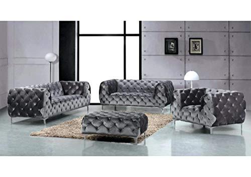 JVmoebel Designer Luxus Wohnlandschaft Chesterfield Polster Sofa Sitz Couch Garnitur Neu