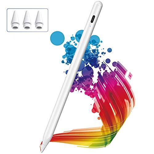 Lápiz para iPad 2018-2021, KINGONE Stylus Pen con Rechazo de Palma, iPad Pencil【Sin Demora/Detección de Inclinación】para iPad 6th-9th Gen, iPad Mini 5th Gen, iPad Air 3rd/4th Gen, iPad Pro 11