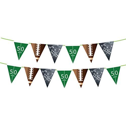 LIOOBO 1 STÜCK American Football Thema Wimpel Dekorative Banner Football Bunting Flagge Kreative Sport Girlande Birthday Party Supplies Gefälligkeiten (Dreieck) Sportzubehör