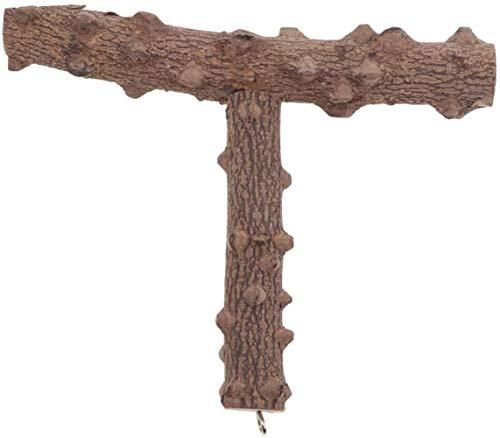 JPSOUP Forma T Wood Loro Perca Jaula Accesorios Decoración de Uso Duradero