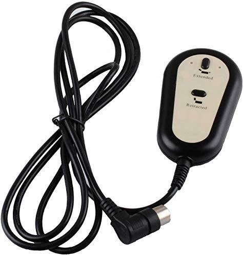 Poweka Interruttore per poltrona reclinabile, 2 pulsanti, 5 pin, telecomando, interruttore per poltrona relax, compatibile con seggiolino Dewert Okin