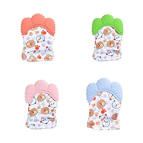 Why Choose Second Sunny 4 Pieces Teething Mitten for Babies Teething Toy Safe (BPA Free) Washable & ...