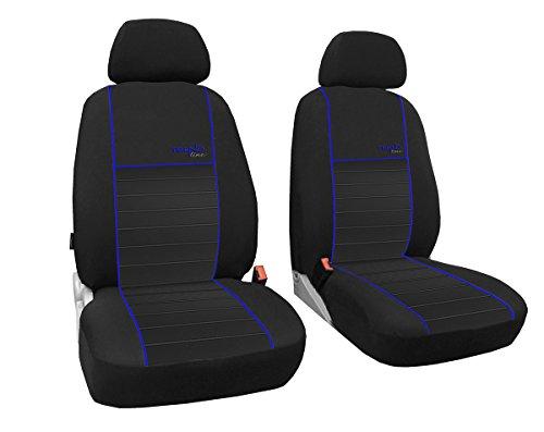 POK-TER-TUNING Vordersitzbezüge 1+1, Sitzbezüge Passend für T3 - Design Trend-Line. in Diesem Angebot Blau.