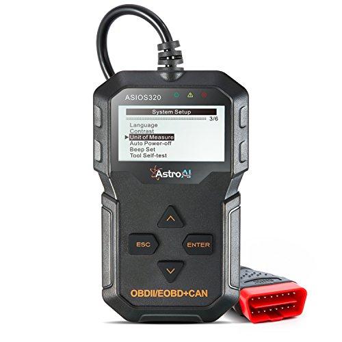 AstroAI OBD2 Diagnostico Diagnosis Coche Multimarca, Scanner para Vehiculos Lee y Borra Códigos de Error con Pantalla Luz