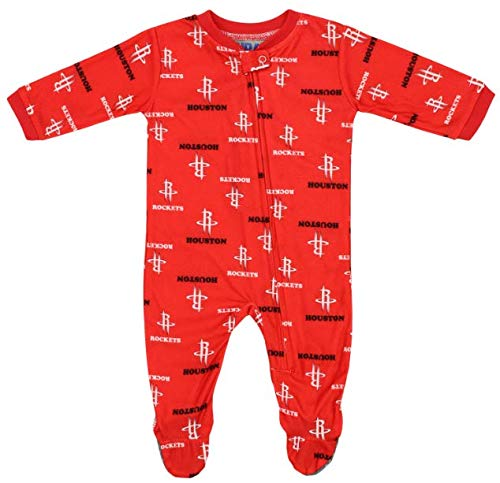 Outerstuff NBA Baby Houston Rockets Three Pointer Sleeper, 0-3 Months