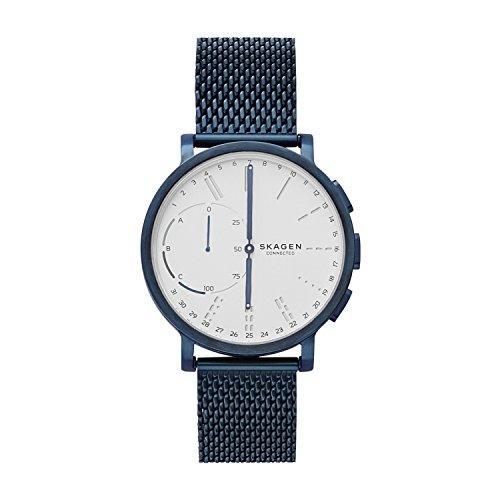Skagen Hagen Connected - Reloj de pulsera unisex, color blanco/azul