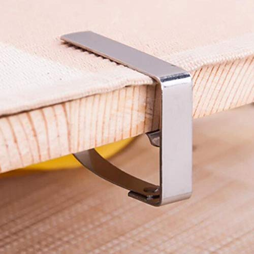 ADSIKOOJF 4 stks RVS Tafelkleed Clip Tafelkleed Klem Houder Clip Stabiele Clips Voor Bruiloft