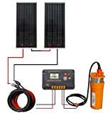 DCHOUSE 2pcs 100W Panel Solar de Policristalino con 24V...