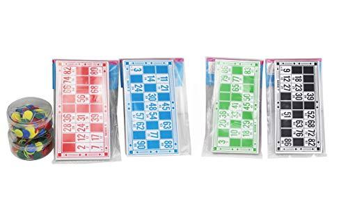 Wagtail 48 Cartones de Bingo mas 200 Marcador de Plástico 4 Colores .